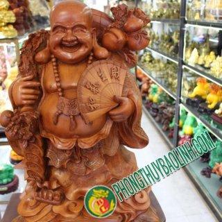 Tượng Phật Di Lặc Gỗ